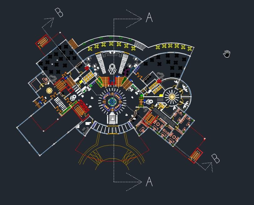 Ingenier a y arquitectura hoteles proyectos for Plano de cocina hotel 5 estrellas