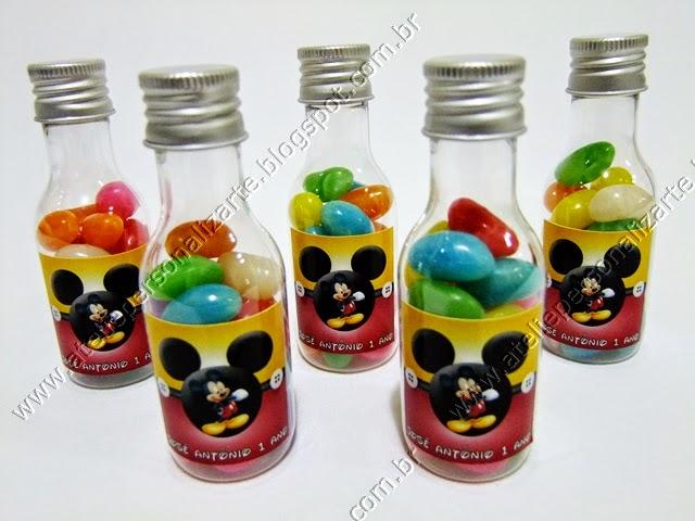 Lembrancinhas Personalizadas Mickey - Garrafinhas
