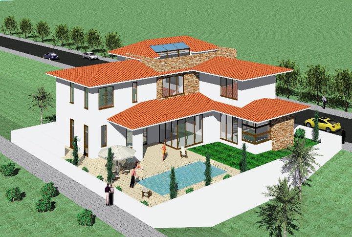 Modern mediterranean home exterior design idea home for Modern mediterranean architecture