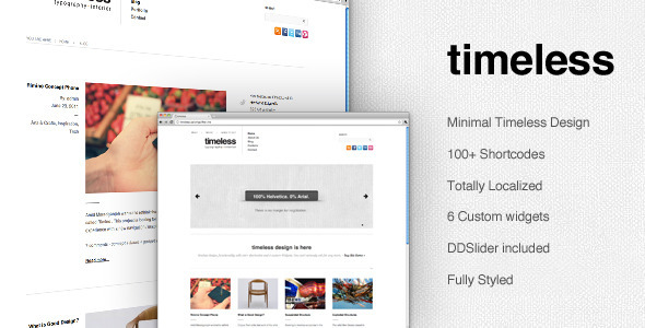 Timeless - Minimal Typographic Wordpress Theme Free Download by ThemeForest.