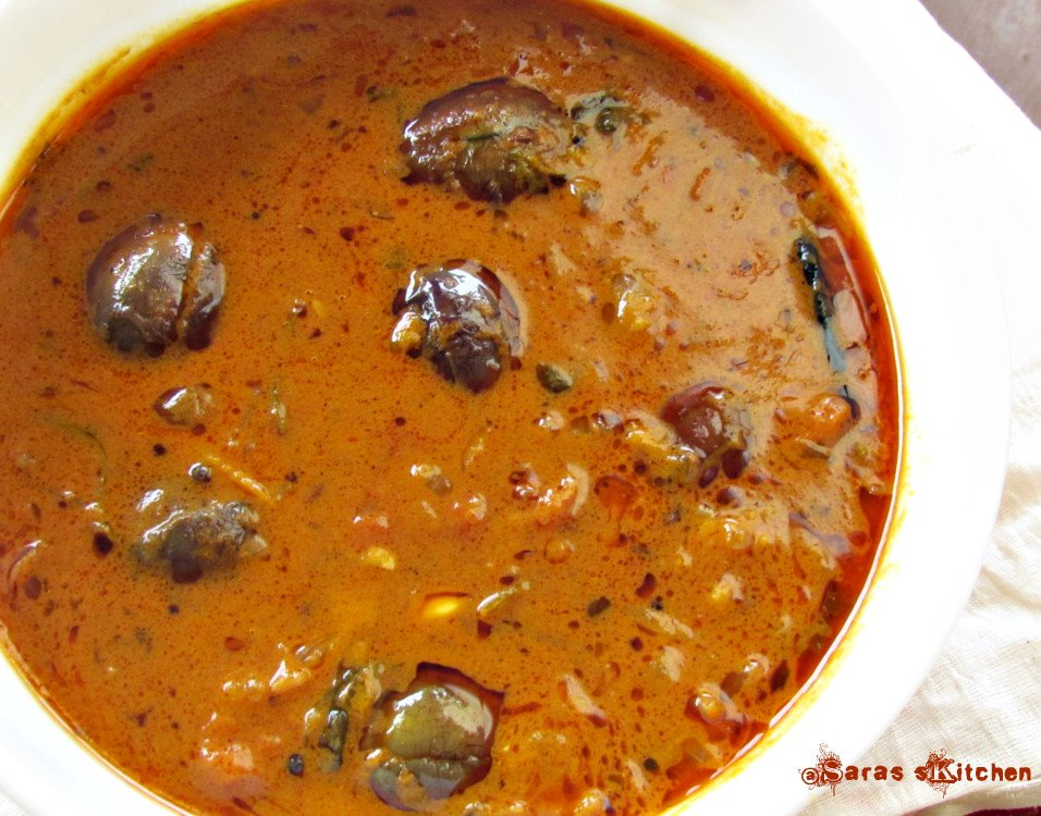 Ennai kathirikai kuzhambu, Eggplant gravy