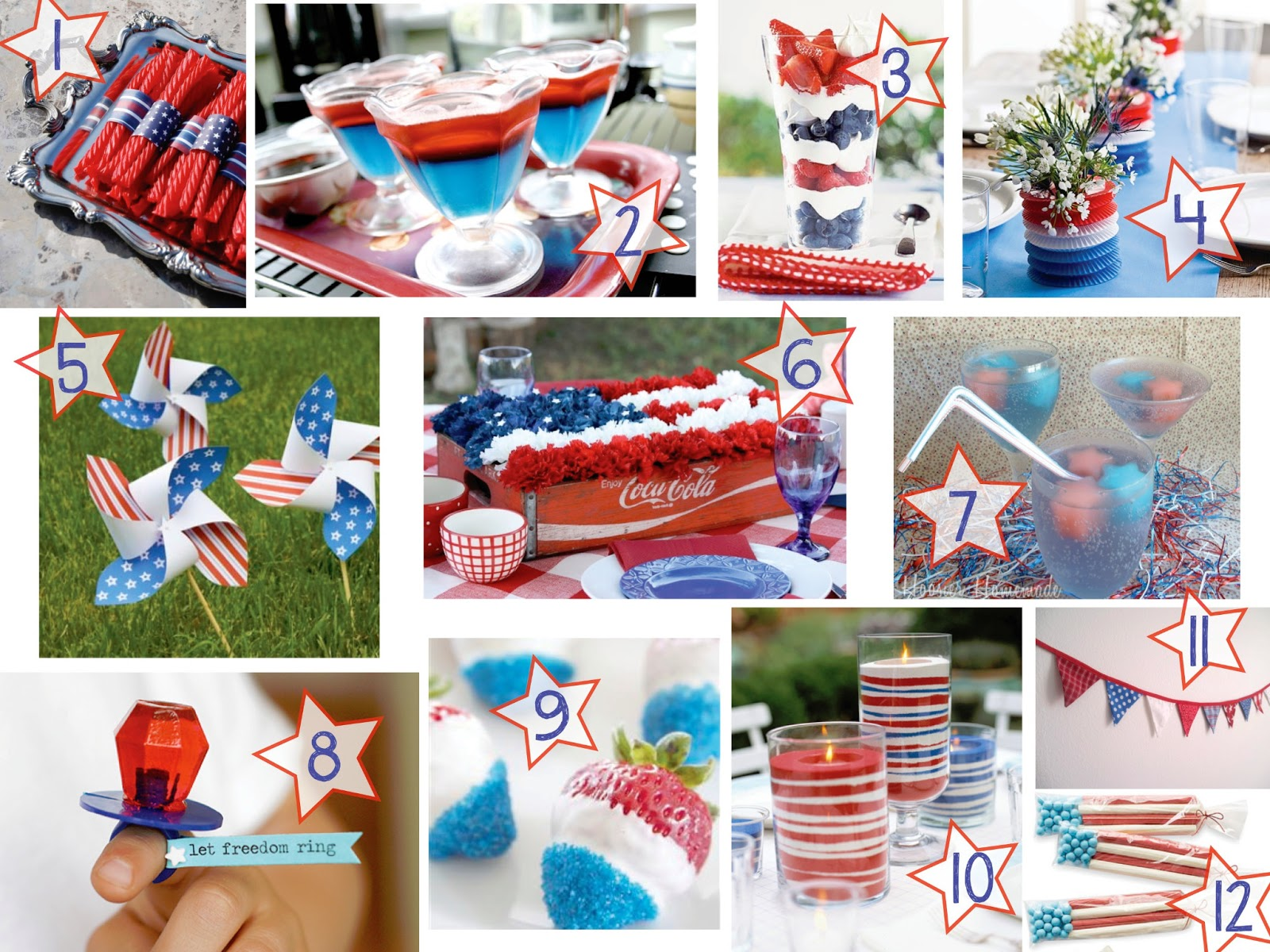 July 4th party crafts for 4th of july party decoration