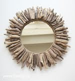 diy driftwood mirror