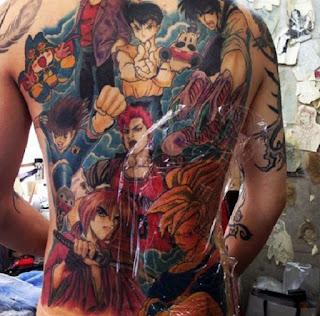 Shonen Jump anime tattoo Tomoyuki Matsubai