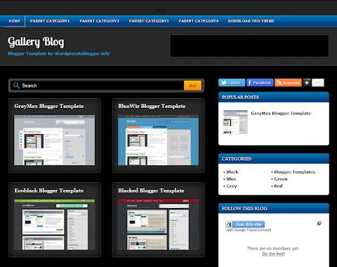 Gallery Blog Blogger Theme
