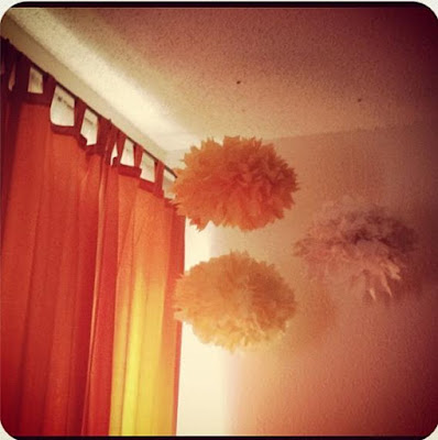 Tissue poms for room decor