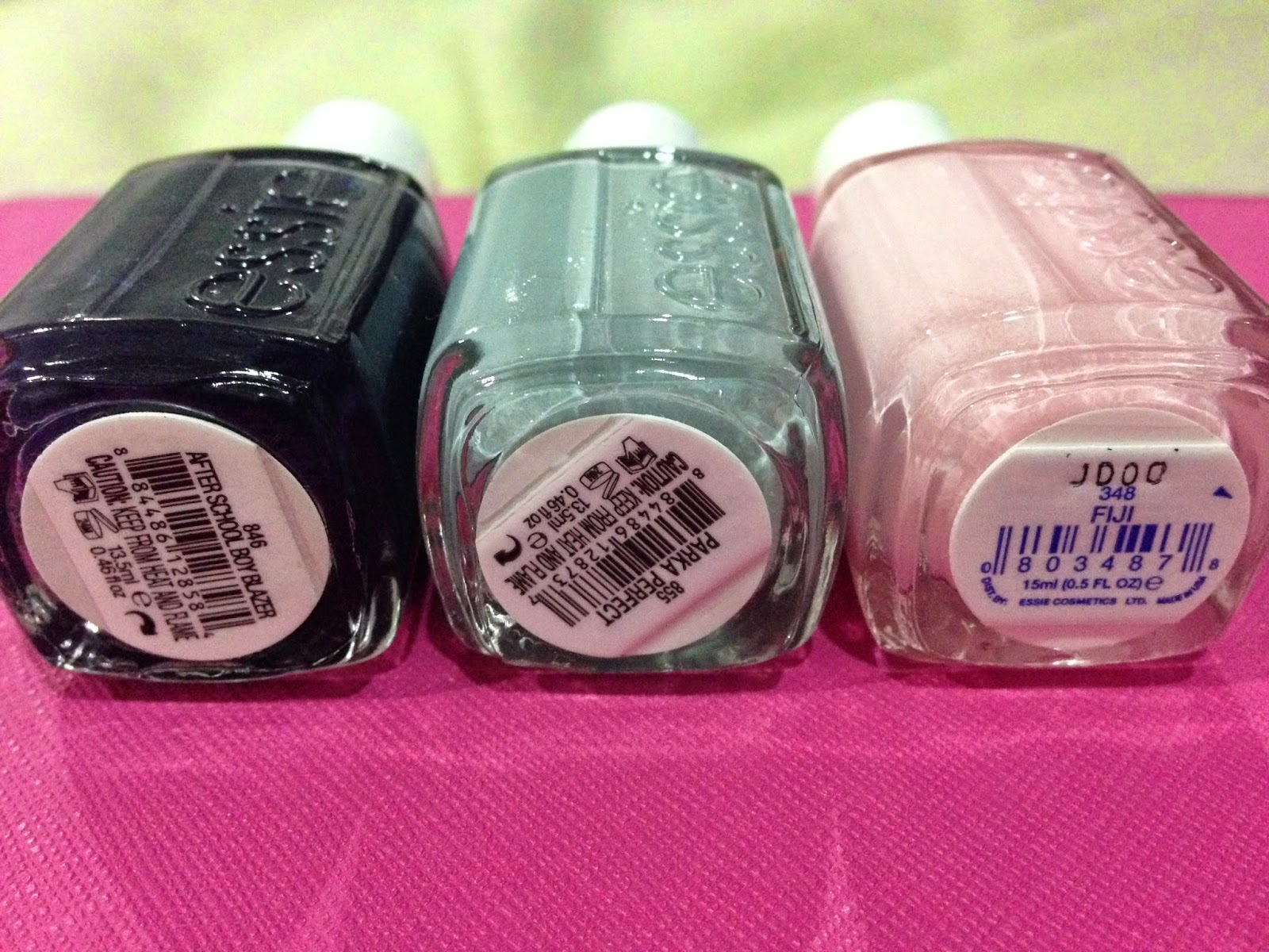 Essie Polish Haul: Part 1 (Parka Perfect, After School Boy Blazer & Fiji)