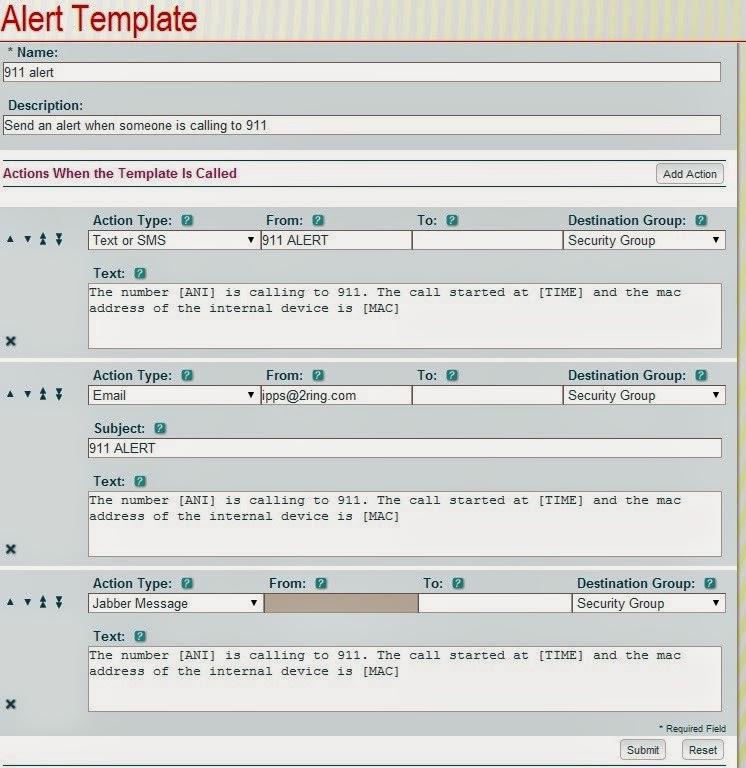 media alert template - alert template detail
