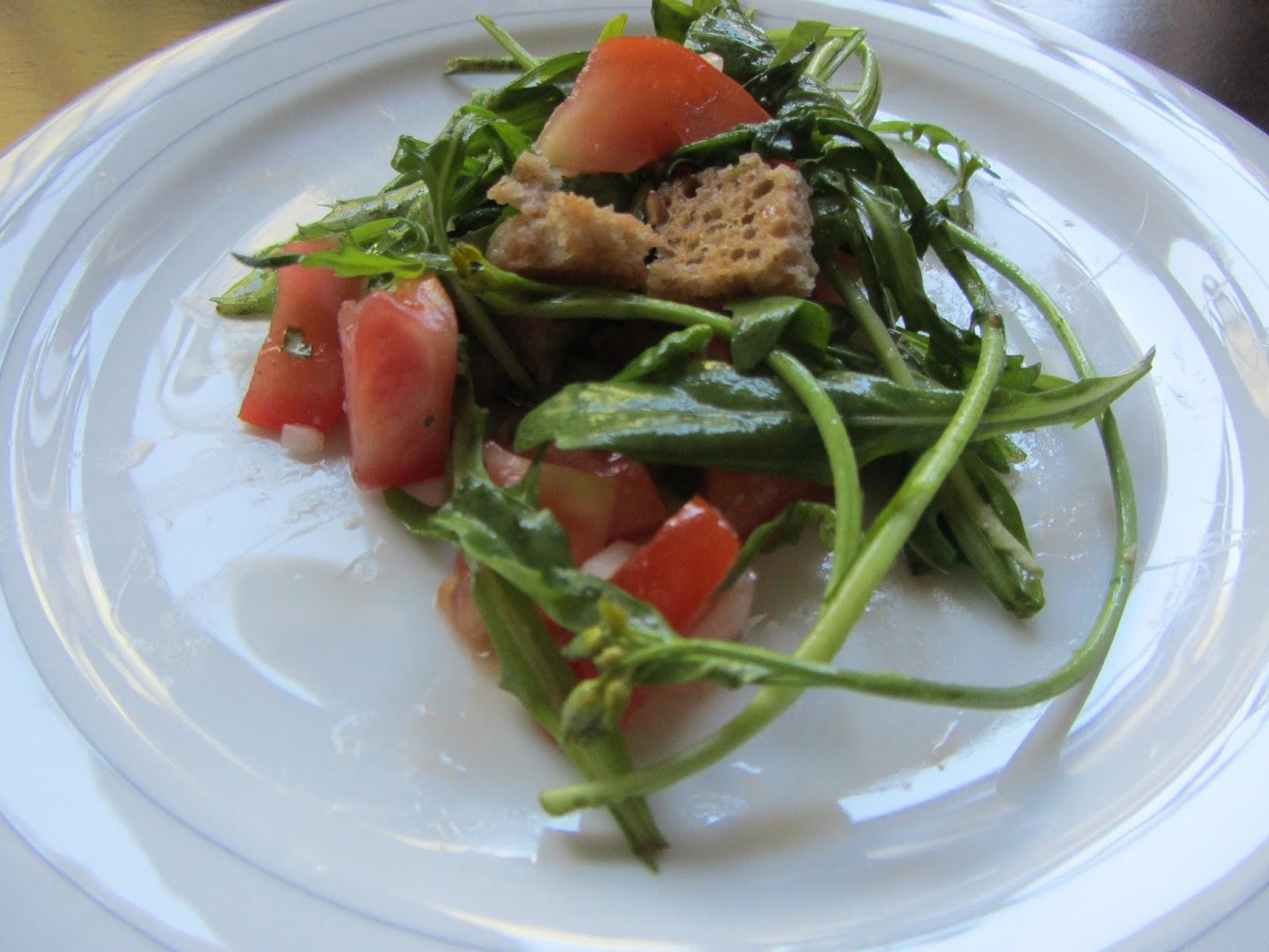 Ohne Tierleid Mampfen Simpel Und Vegan Tomaten Rucola Salat Mit Brot