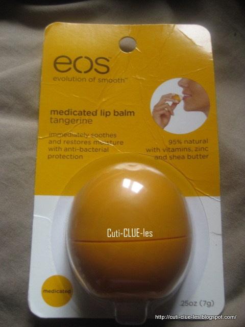 CutiCLUEles EOS Medicated tangerine