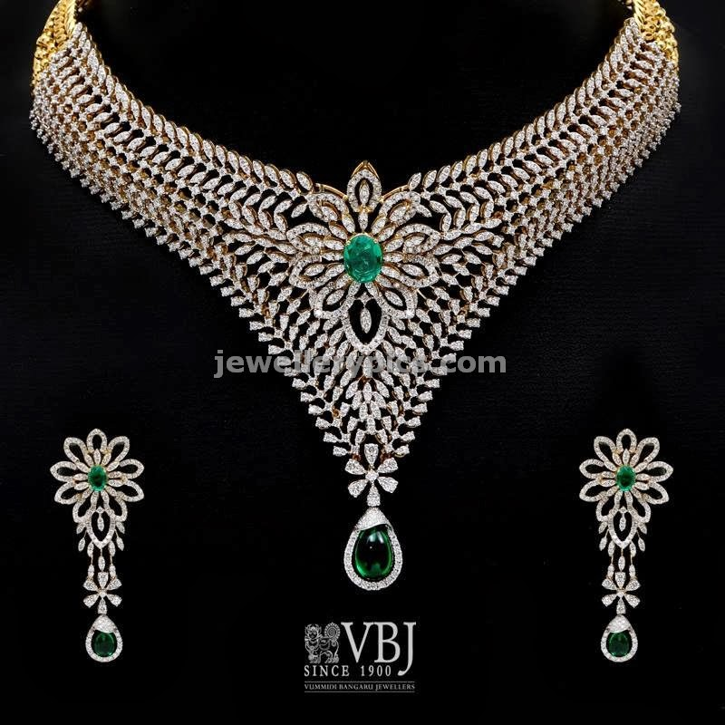 vbj diamond necklace