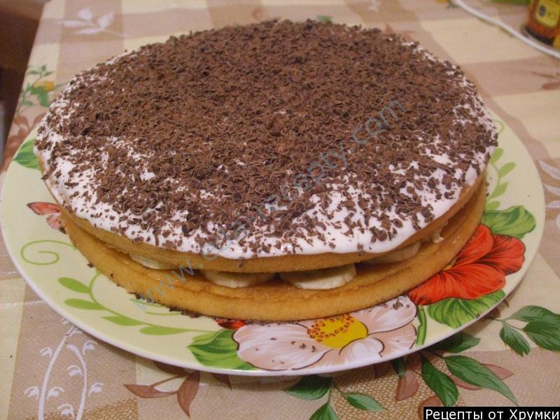 Рецепт торта из готовых бисквитных коржей пошагово