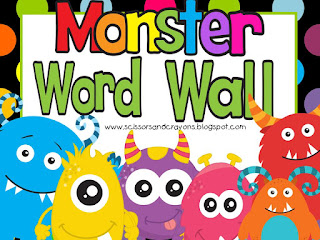 https://www.teacherspayteachers.com/Product/Monster-Word-Wall-1884647