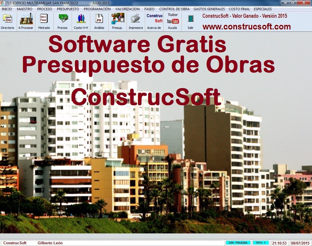 Software Gratis para Presupuesto de Obras