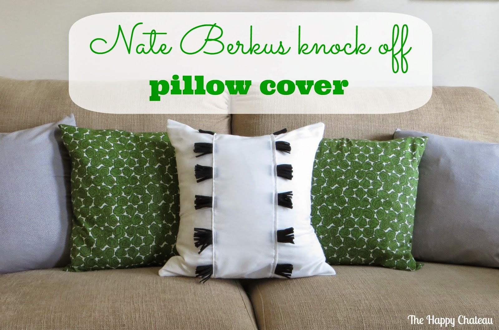 Inspiration Monday Feature - Nate Berkus knock-off pillow cover