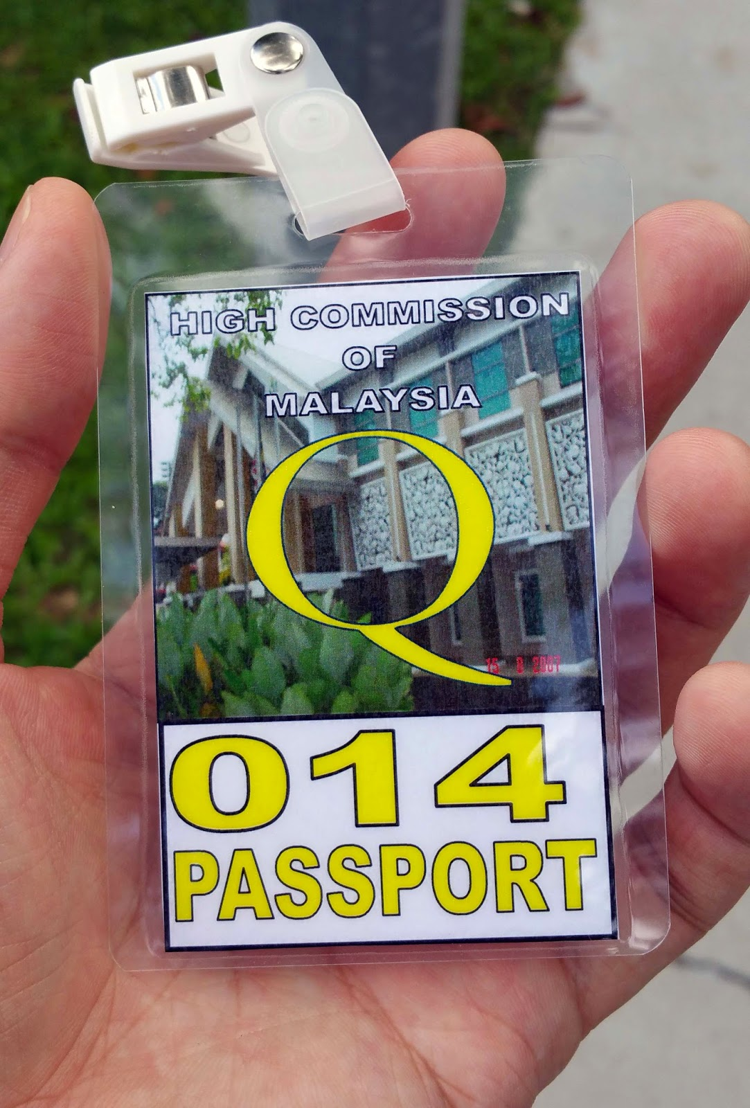 Day 2 Visitor Pass/Queue Number