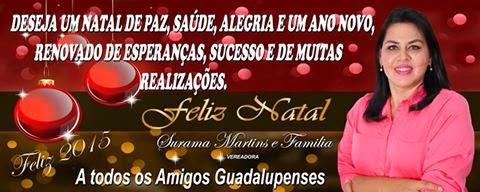 Mensagem da Vereadora Surama Martins