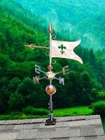 Polished Copper Banner Weathervane