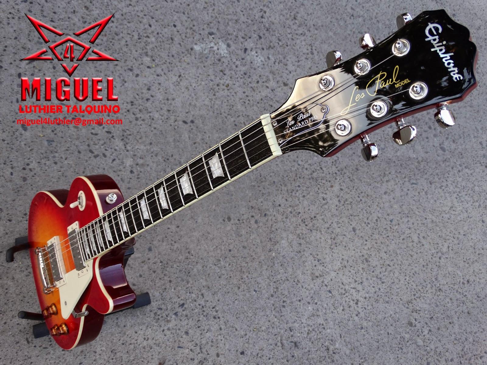 Luthier miguel4 talca guitarra el ctrica epiphone les for Luthier guitarra electrica
