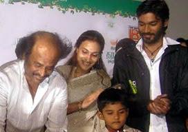 Rajanikanth, Dhanush, Aishwarya's son