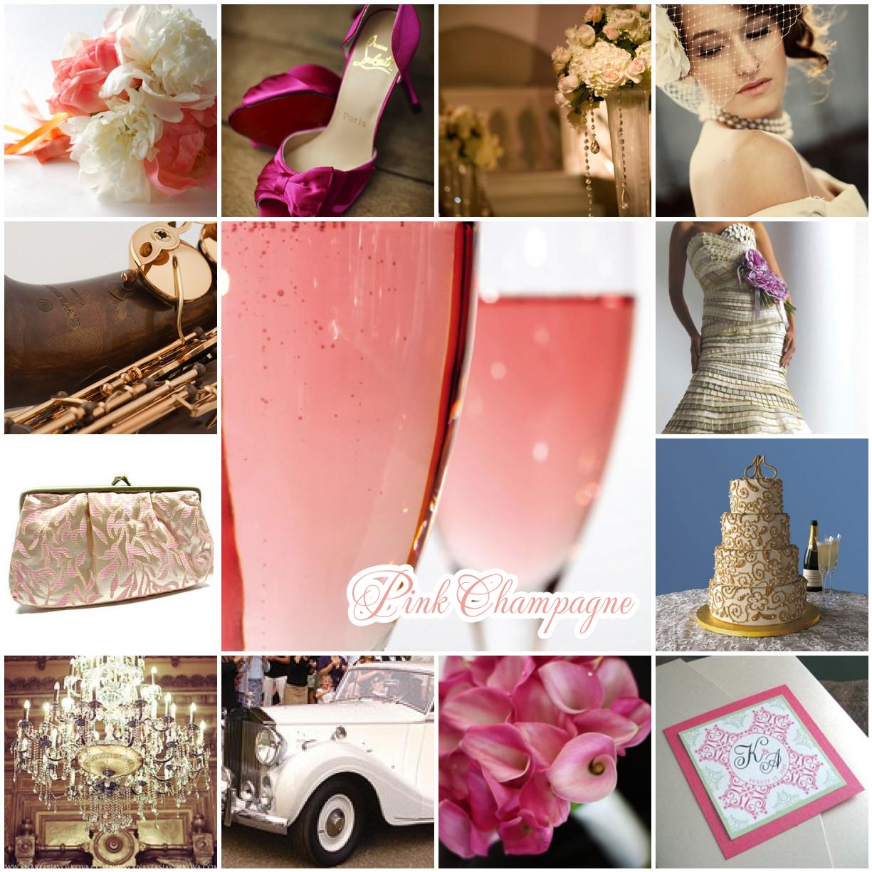 Sparkling Events Amp Designs Wedding Inspiration Pink Champagne Inspiration Board