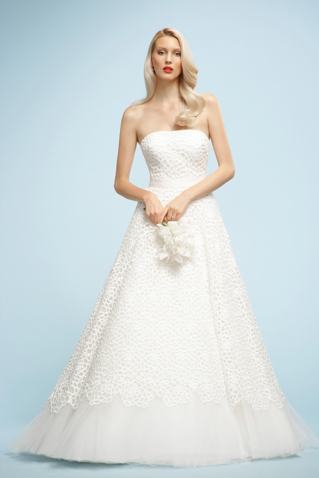 The serendipitist watters gown makes the cover of brides for Wedding dresses by watters