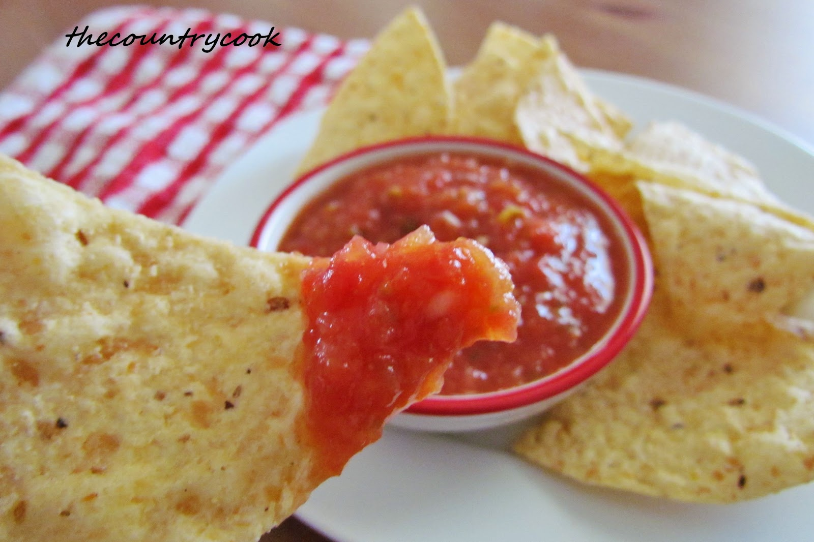 Restaurant Style Salsa - The Country Cook