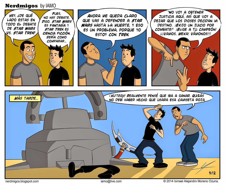 Nerdmigos Star Wars v Star Trek: Bronca de la justicia por IAMO