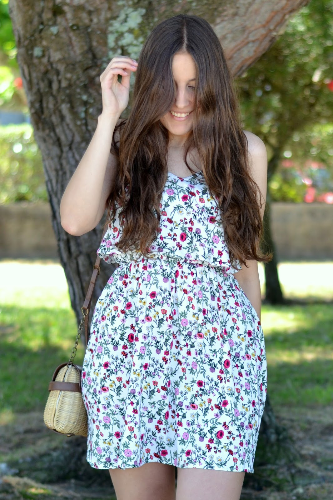 H&M Coachella floral dress