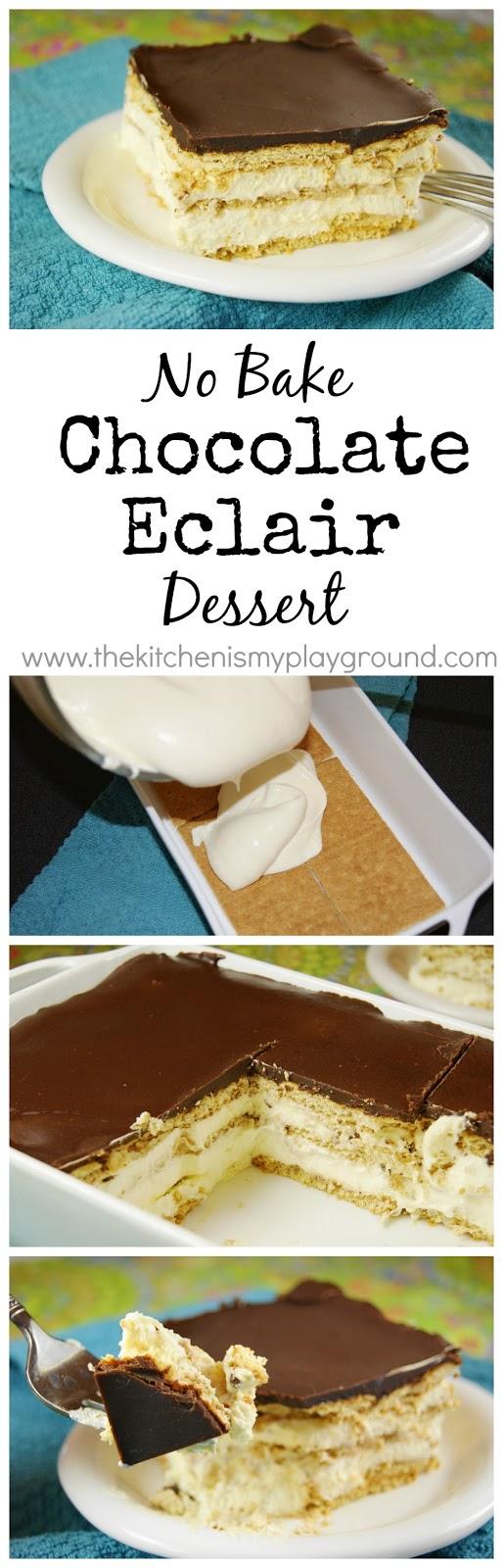 No-Bake Chocolate Eclair Dessert - The Kitchen is My Playground