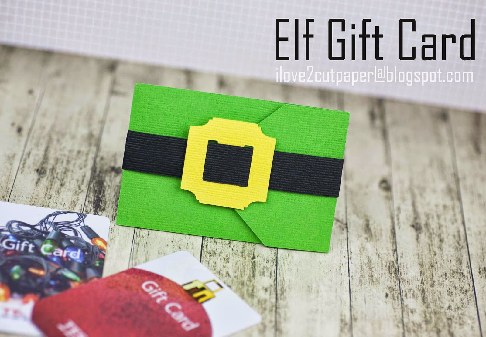 Elf Gift Card Holder