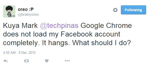 Facebook Google Chrome
