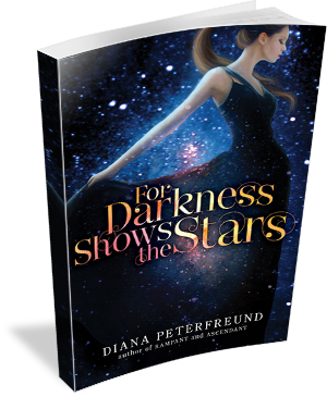 Book Cover For Darkness Shows the Stars by Diana Peterfreund