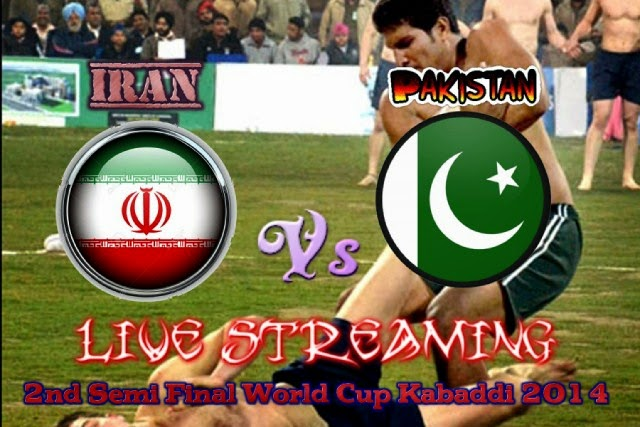Pakistan Vs Iran Live 2nd Semi Final Kabaddi World Cup 2014