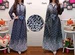 315 Abtract Denim Maxi + Obi SOLD OUT