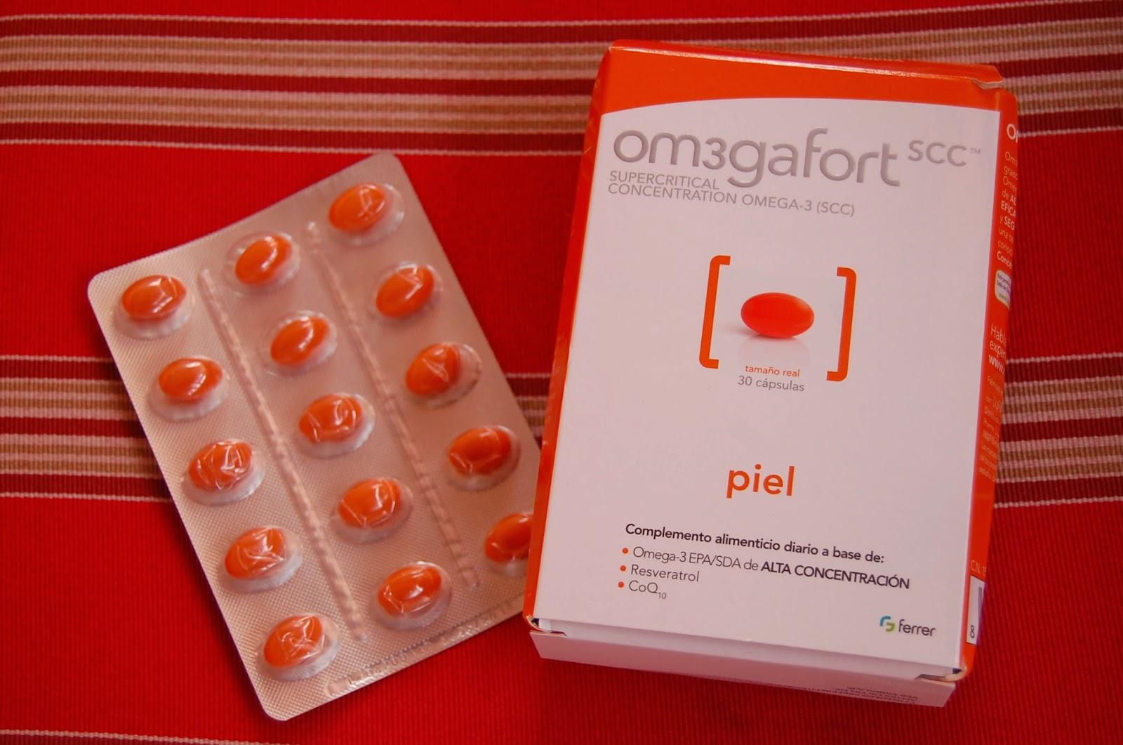 Capsulas Om3gafort scc Piel de Omegafort