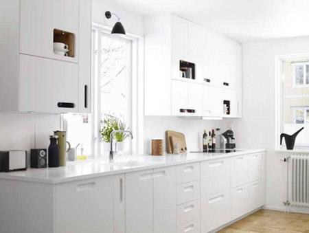 Decora el hogar decoraci n de cocinas blancas for Cocinas modernas blancas precios