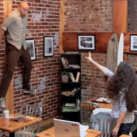 telekinetic surprise at coffee shop