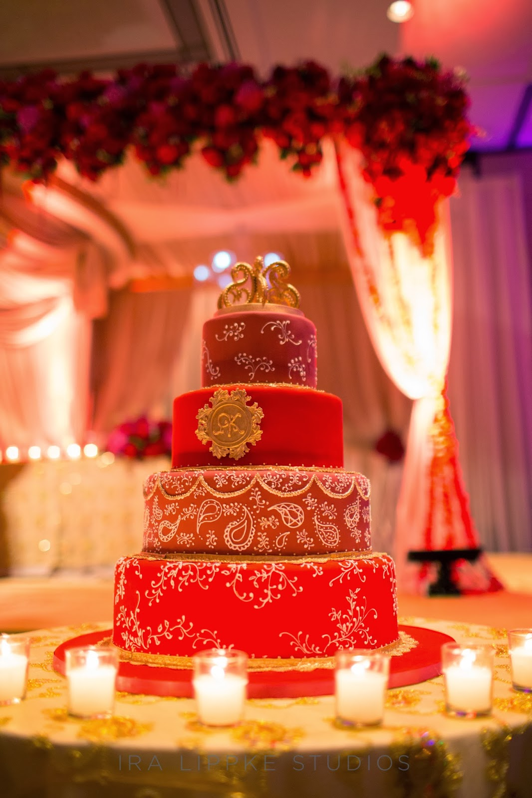 Red And Gold Wedding Cakes Viewing Gallery