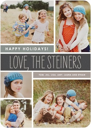 multiple photos holiday card