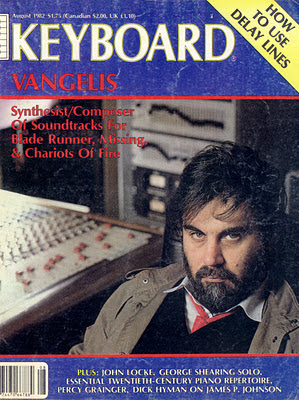 La portada de agosto de 1982 que incluye una entrevista con el músico griego Vangelis