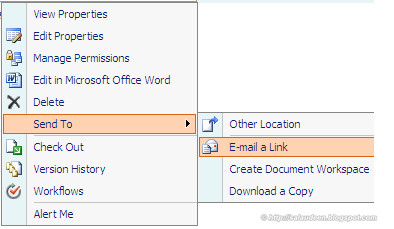 E-Mail a Link issue in SharePoint 2007