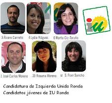 Candidatos jóvenes de IU Ronda