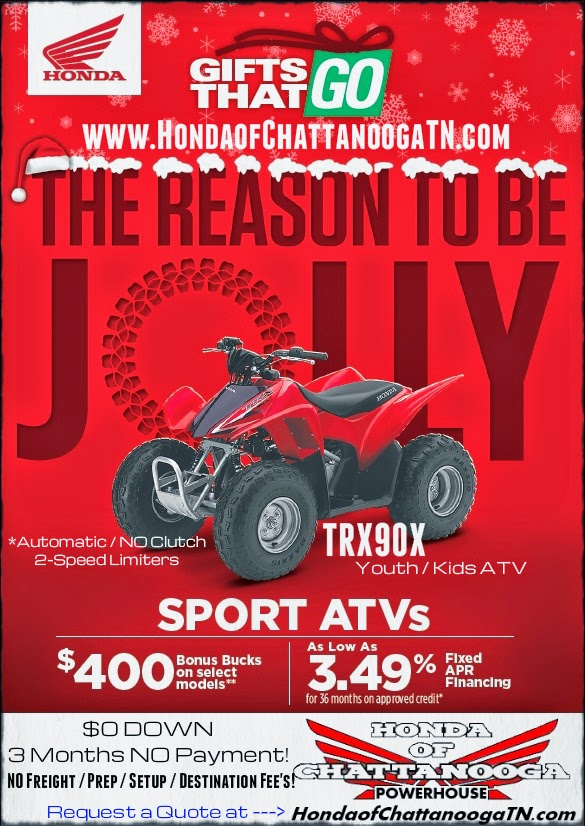 Kids Youth ATV Four Wheeler For Sale TRX90 Chattanooga TN Cleveland Ooltewah Hixson Dalton GA Atlanta Calhoun Athens