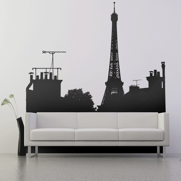 Eiffel tower wall art decor paris room d cor luxury lifestyle design am - Stickers muraux paris ...