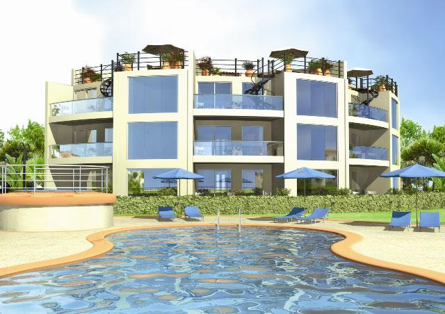 Fachadas de edificios circulares fachadas de casas y for Edificios minimalistas