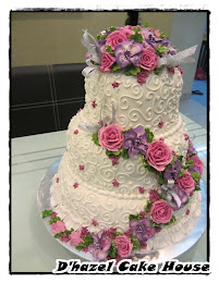 3tier stacked wedding cake SBC