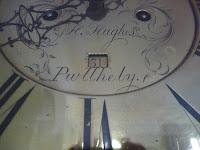 H Hughes Pwwlhely brass dial