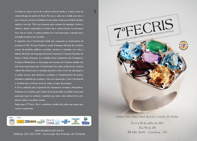 Feira de Joias e artesanato mineral de Cristalina - Fecris