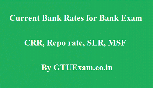 current Bank Rates